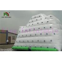 China 0.9mm PVC Tarpaulin White / Green Inflatable Water Toy  Giant Iceberg For Water Park on sale