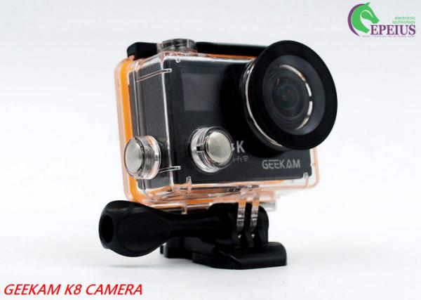 Quality 2 Inch Dual Screen 4k Waterproof Action Video Camera K8 360VR 170 Degree for sale