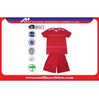 China Red Short Sleeve Sport Suits Custom Youth Soccer Jerseys / Basketball Team Uniforms on sale