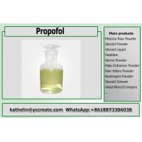 Light Yellow Liquid Pain Killer Diprivan / Propofol For General Anesthesia CAS 2078-54-8