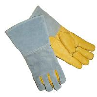 China Safety cow grain leather welding gloves ZM710-G wholesale