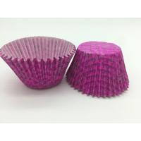 Buy cheap Luxuriant Purple Paper Cupcake Liners Printed Round Paper Cake Cup Mold Baking Set from wholesalers