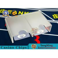 China Acrylic Gambling Poker Card Holder Frosted Casino Table Accessories 1-2 Decks With 2 Exit Discard Holder on sale
