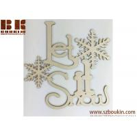 China Let it snow Wooden Holiday Cutout wooden Christmas decorations wholesale