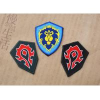 China Polyester Material Custom Woven Patches Sew - On Backing 3D Cubic Stuffing wholesale