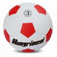 China Rubber Soccer Ball, Customized Logos are Accepted, Suitable for Promotional Purpose wholesale
