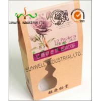 China PVC Windows Cardboard Food Packaging Boxes , Self Closing Cardboard Takeaway Containers wholesale