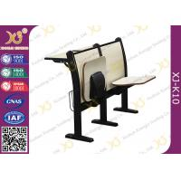 Buy cheap 18MM Composite Board Folded Seat School Desk And Chair With Strong Metal Frame from wholesalers