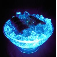 China GPPS + ABS rechargeable clear led ice bucket D31.5 * D17.0 * H18.0CM for beer, bar, party on sale
