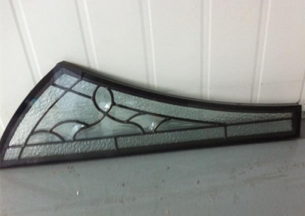 Quality Zinc Patina Brass Decorative Panel Glass Rectangle Oval Half Round Bar  Shape for sale