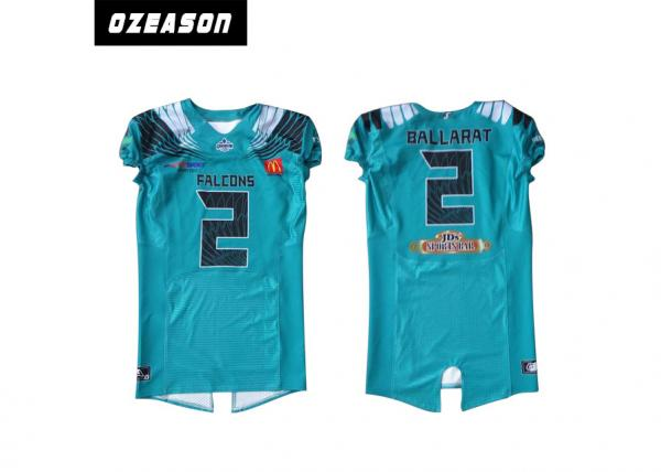 Quality Polyester Mesh Sublimated Football Jerseys / American Football Shirt For Training for sale