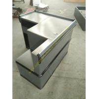 China Grey Mini Express Checkout Counter With Add On Counter For Convenient Store wholesale