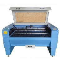 China High Efficiency Laser Leather Cutting Machine Blue Color With Double - Laser Cutting on sale