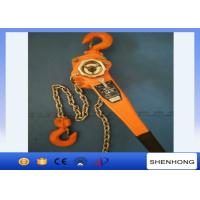 China 3 Ton Lever Chain Hoist 1.5M Lift , Construction Tightening Lever Chain Block wholesale