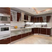 Buy cheap High Gloss Lacquer MDF Kitchen Cabinets Blum / Dtc Hardware With Countertop Sink from wholesalers