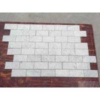 China Subway Marble Mosaic Tile  3 X 6 Carrara White For Bathroom , 2/5 Thickness wholesale