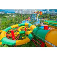 China Fiberglass Closed Spiral Black Hole Water Amusement Park Slides For Adult wholesale
