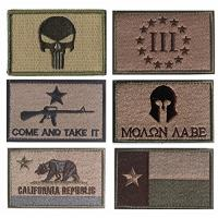 China Tactical Reverse USA Flag Custom Woven Badges Hook Back Adhesion , Custom Morale Patches wholesale