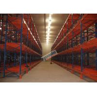 China Supply Chain Push Back Pallet Racking Steel Storage Shelving 2 Uprights Frame wholesale
