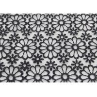 China Embroidered Dying Lace Fabric Floral Lace Organza Polyester Fabric For Dresses wholesale
