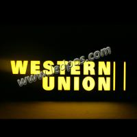 China Western Union Backlit Neon Sign wholesale