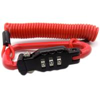 Buy cheap Ø3.0mm  Security Red PVC Coated Steel wire 3 Digits Combination Retractable Helmet Cable Lock from wholesalers