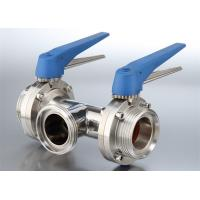 China Safety Hygienic Stainless Steel Sanitary Valves With 580 Psi Maximum Pressure on sale