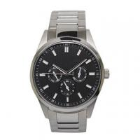 China Quartz Chrono Stainless Steel Watches with Minera Glass Lens , black face on sale