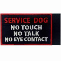China DON'T TOUCH ME Custom Cloth Badges Embroidery Woven Patches For Working Dogs wholesale