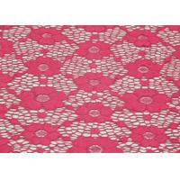 Underwear Elastic FloralLace Fabric Red Shrink-Resistant OEM / ODM CY-DN0003