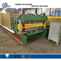 China Aluminium Color Coated Metal Roll Forming Machine For Wall And Roof Cladding wholesale