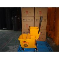 China 36L hand press mop bucket with wringer manufacturer on sale