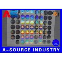 2cm Diameter Honeycomb Security Custom Holographic Stickers Min Order 10000pcs