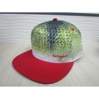Buy cheap 6 panel  100% polyiester micro fiber fabric with sublimation printing flat peak snapback cap from wholesalers