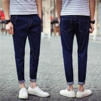 China Quick Dry Men Stretch Skinny Straight Leg Jeans High Waisted Wear Resistant on sale