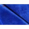 China Polyester Dark Blue Minky Dot Fabric Kids Blanket Material Warp Knit Plain Dyed Fabric wholesale
