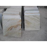 China natural yellow slate floor tile for home decoration wholesale