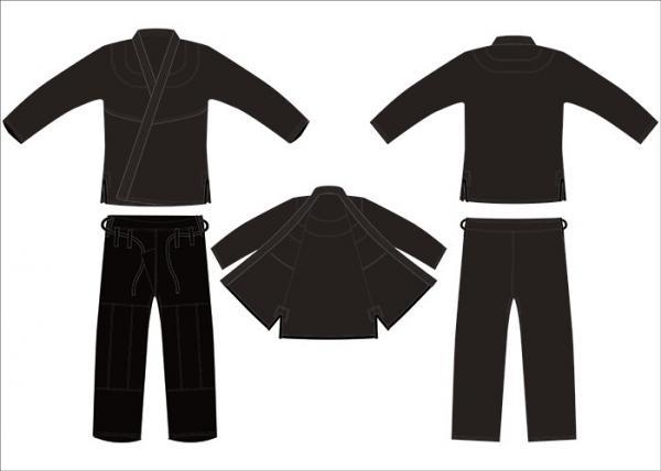 Quality Customerized Brazilian Jiu Jitsu Kimonos Mma Competition Black Hemp Gi Bjj for sale