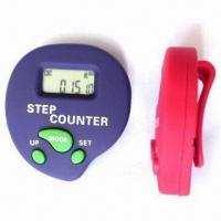 China Heart Style Pedometer with 1.5V DC Voltage, Alarm Clock, Stop Watch Count Step and Calorie wholesale