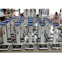 China Human Body Fat Weight Scale , 10.1 Inch LCD Advertising Screen Weighing Machine With Height Scale wholesale