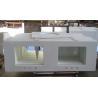 China VanityTops - Nano Crystal White Vanity Tops Double Sinks - HestiaMade wholesale