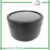 Plastic Window Paper Tube Box For Gift Packing , cardboard round box