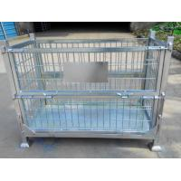 China Zinc coated wire mesh storage container wholesale