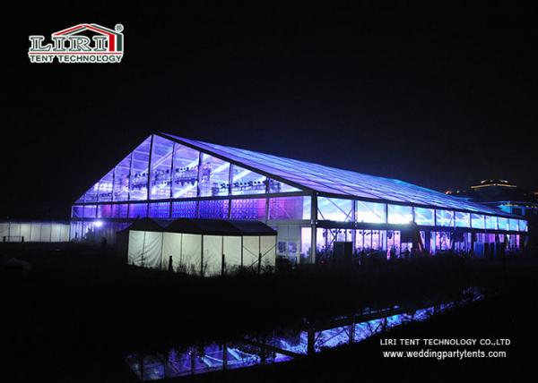 Transparent 50 by 50 Meters Hugh Aluminum Marquee with Tables & Chairs