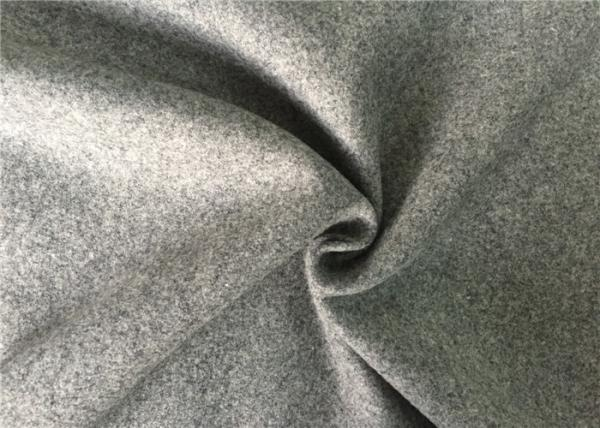 Quality 50wl45p5other mid-grey  Color plain Melton Wool Fabric for all people for sale