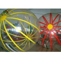 China Colorful Strings Durable PVC / PTU Inflatable Walking Water Ball By Hot Air Welding Machine wholesale