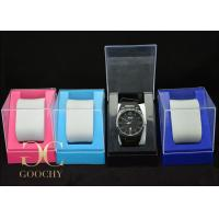 China Transparent Plastic Watch Box EVA / White Gift Boxes With Lids on sale