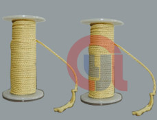 Quality Flexibility Aramid Fiber Rope , Heat Resistant Rope For Sealing Materials for sale