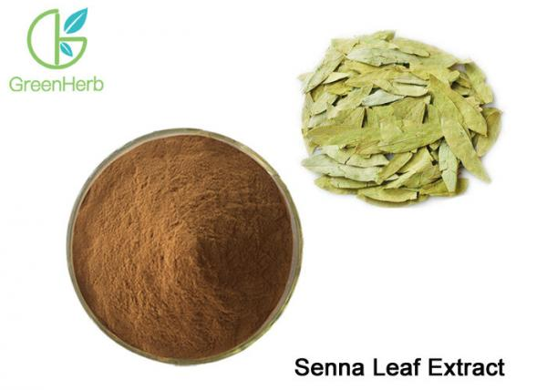 Quality CAS 517-43-1 8%-20% Pure Sennosides ( Sennoside A+B ) Senna Leaf Extract for sale