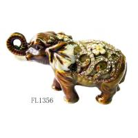 Indian elephant shape metal enamel jewelry gift boxes for necklaces